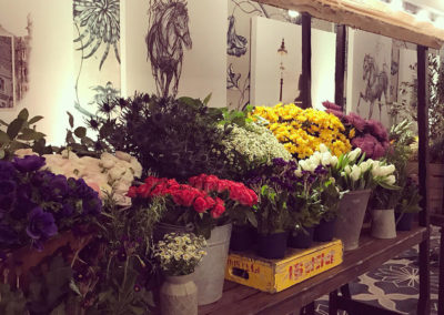Fay-Campbell-Events-Farmers-Market-detail-of-sketches-and-flowers